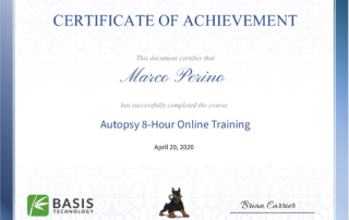 Autopsy Certification