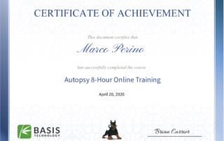 Autopsy Certification