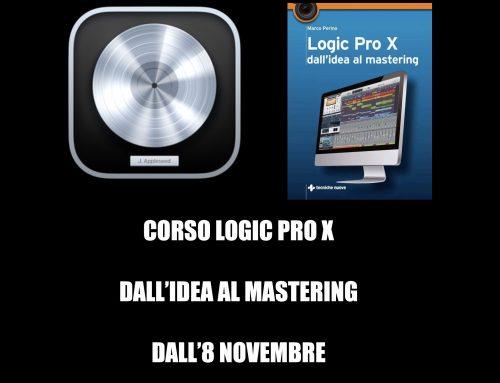 Corso Logic Pro X – Online – Da Remoto – A partire dall'8 Novembre